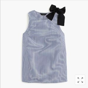 Jcrew bow shoulder top in stripe